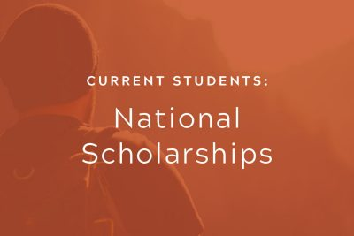 Current Students: National Scholarships